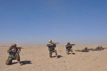 Afghan soldiers.  Ministry of Defense of Afghanistan