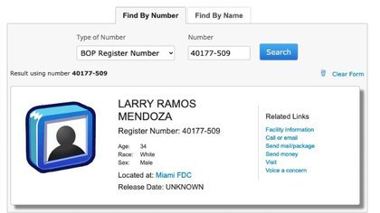Ramos' entry into the FBI can be verified (Image: Screenshot)