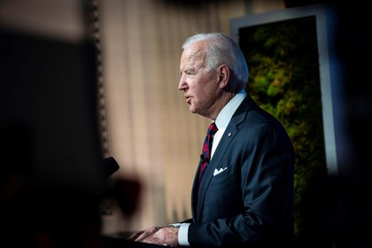 US President Joe Biden speaks during the Climate Summit on Thursday April 22, 2021 in Washington.  EFE / EPA / AL DRAGO
