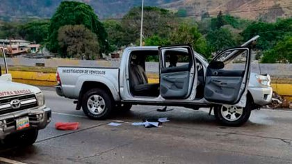 This is how one of the trucks was attacked