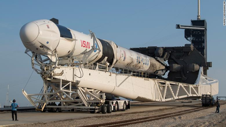 The SpaceX Falcon 9 rocket is being launched with the company's Crew Dragon spacecraft to launch the 39A complex as preparations for the Crew-2 mission continue at NASA's Kennedy Space Center.