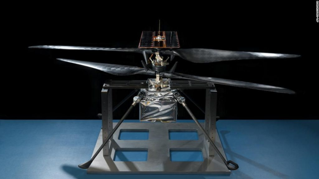An ingenious helicopter takes the first color photo on Mars