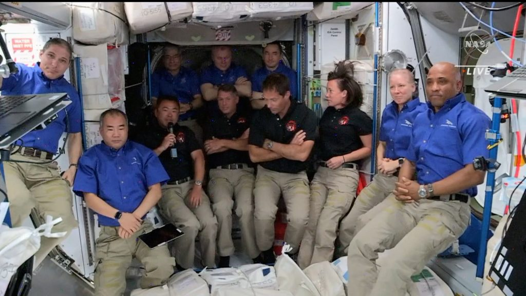 SpaceX spacecraft arrives at the International Space Station