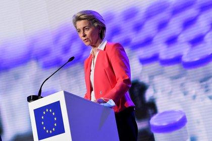 Ursula van der Leyen, Presidena de la Commissar Europe (via John Thais / Pool REUTERS)
