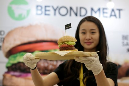 Beyond Meat is a company that produces meat alternative foods.  Reuters / Jason Lee