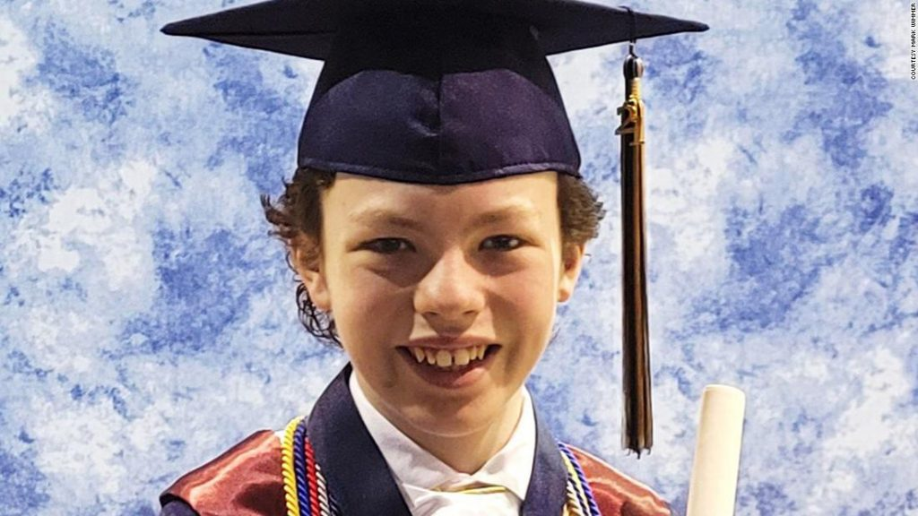 12-year-old graduates from high school and college the same week