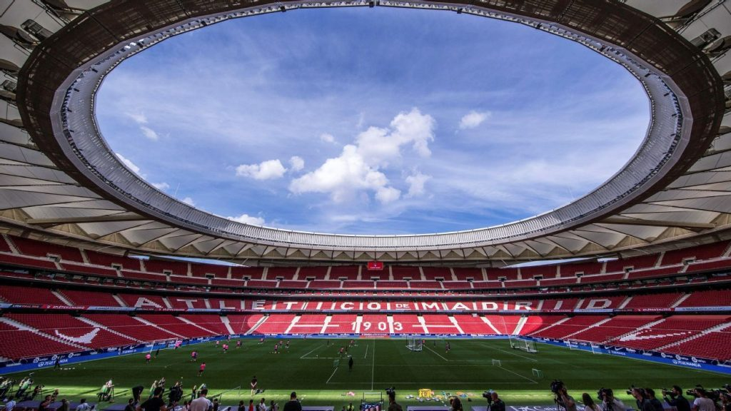 Atletico Madrid, the first Spanish club to withdraw from the First Division