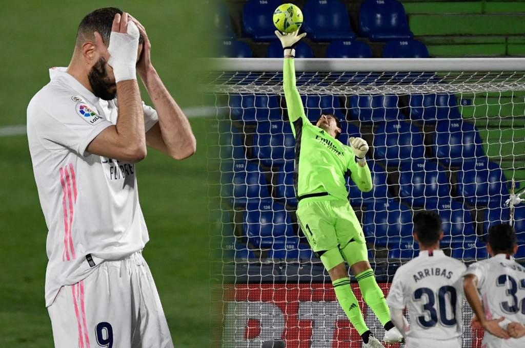 Courtois avoids Real Madrid's defeat by Getafe and moves away from Atletico in La Liga - Diez