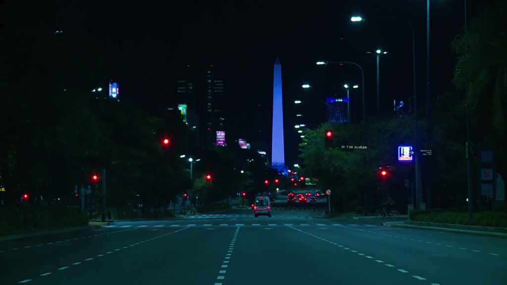 Buenos Aires, a ghost town: effects of isolation by covid-19 at night