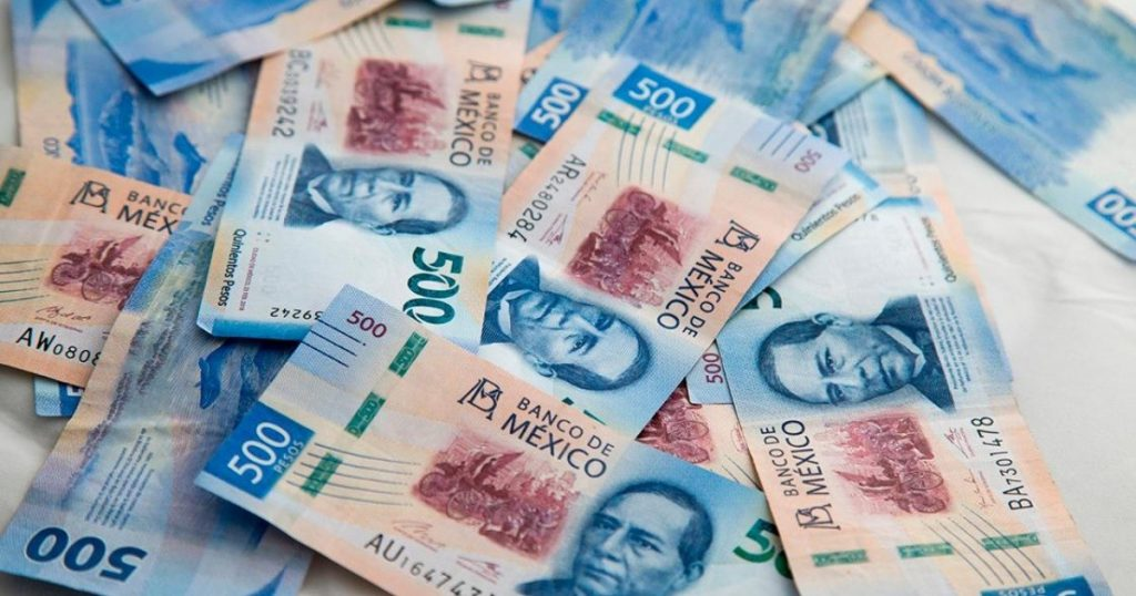 The peso is down to nearly 20 units against the dollar after six days of gains