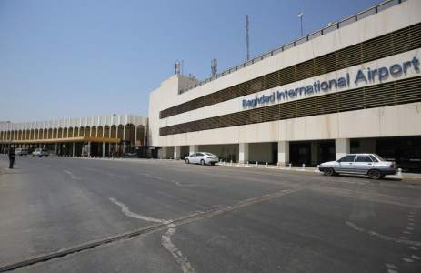 Three rockets hit a U.S. military base at Baghdad airport in Iraq