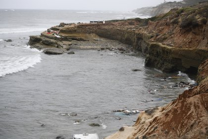 Remains of a San Diego boat.  (AP Photo / Denise Borai)
