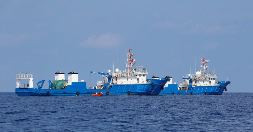 The chief Filipino diplomat insulted China and called on the regime to leave the disputed waters