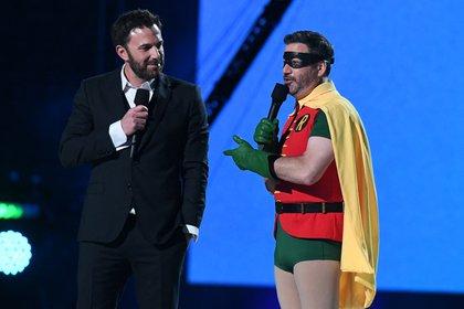 Ben Affleck and Jimmy Kimmel (AFP)