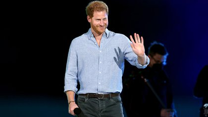 Prince Harry joined the kings of pop, including Jennifer Lopez, at a star-studded concert in Los Angeles on Sunday (AFP).