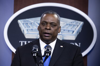 In the picture, US Secretary of Defense Lloyd Austin (EFE / Michael Reynolds / Archive)