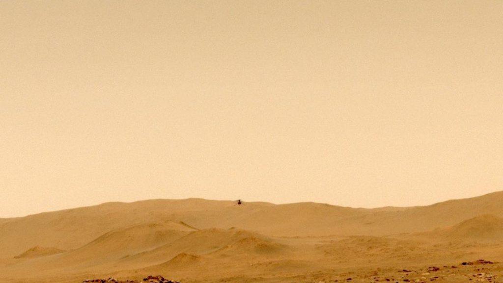 VIDEO: El helicóptero Ingenuity de la NASA marca nuevos récords en su quinto vuelo en Marte