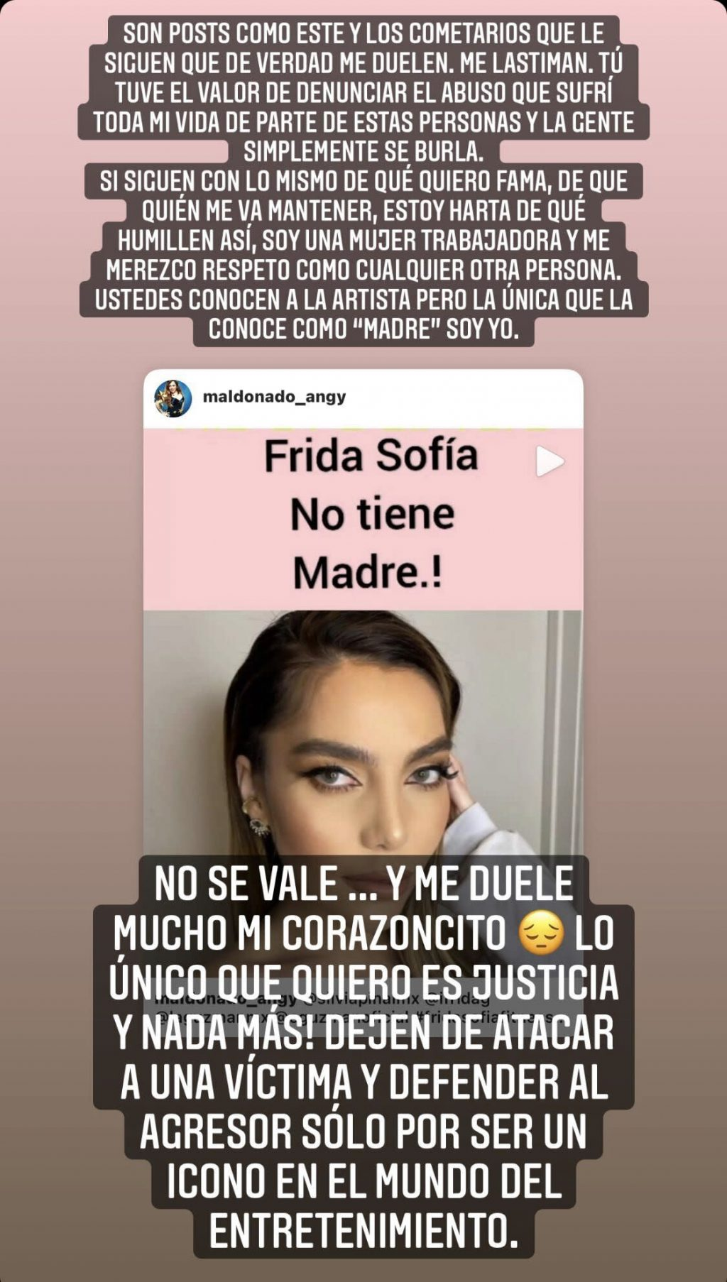 """""""Tired of humiliation!""""  Frida's heartbreaking plea in the face of her torn harassment"""