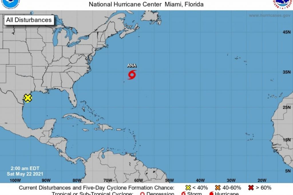 The first sub-tropical storm of the season develops