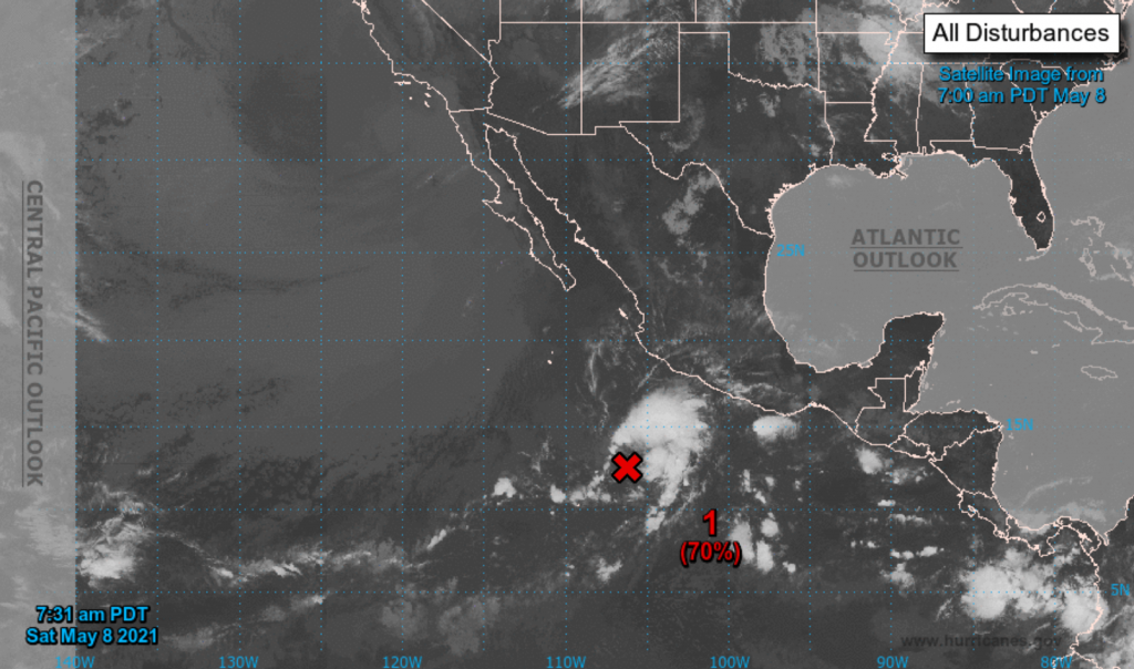 Andres, the first storm of the Pacific hurricane season