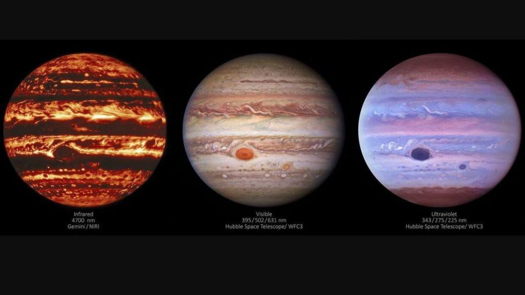 Captan un enigmático aspecto de la Gran Mancha Roja de Júpiter