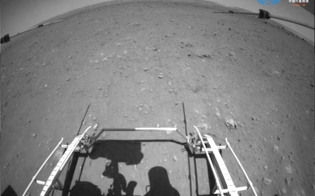 China assumes that its rover is traveling on Mars for the first time