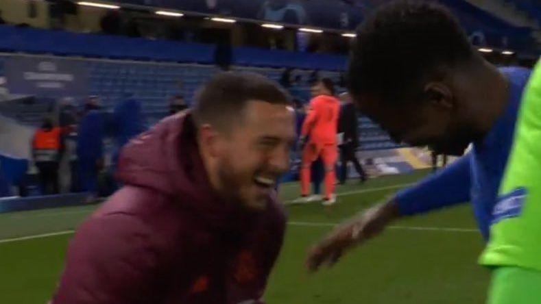 Eden Hazard was happy despite Real Madrid's elimination