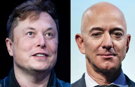 Elon Musk and Jeff Bezos are vying for the throne in a battle for space