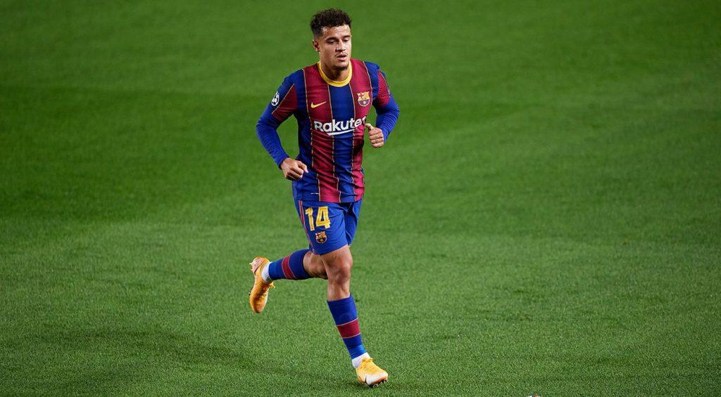 Philippe Coutinho en un partido del Barça