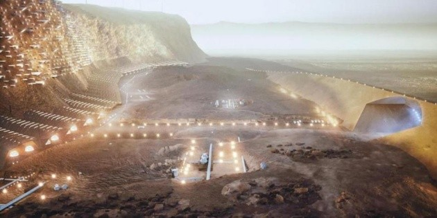 It will be Noah, the first city that Mars has in the year 2100