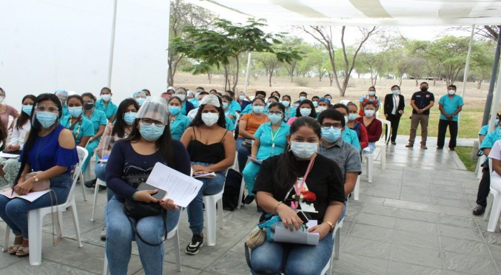 Piura: The vaccination has started for more than 480 health sciences trainees