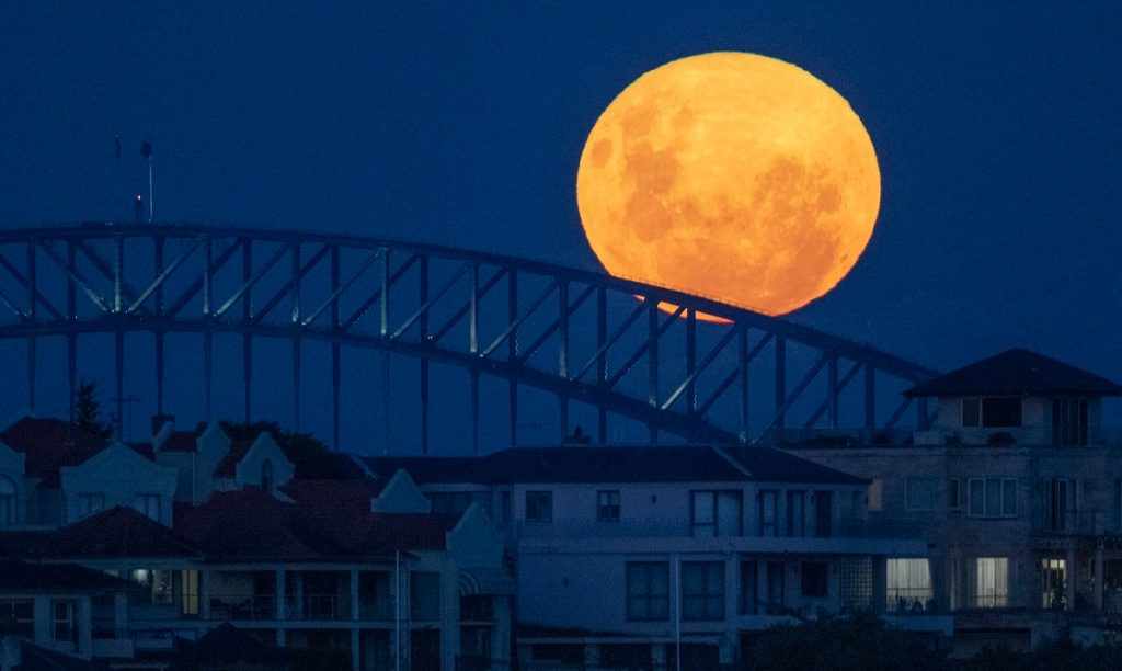 The giant moon will be seen two nights