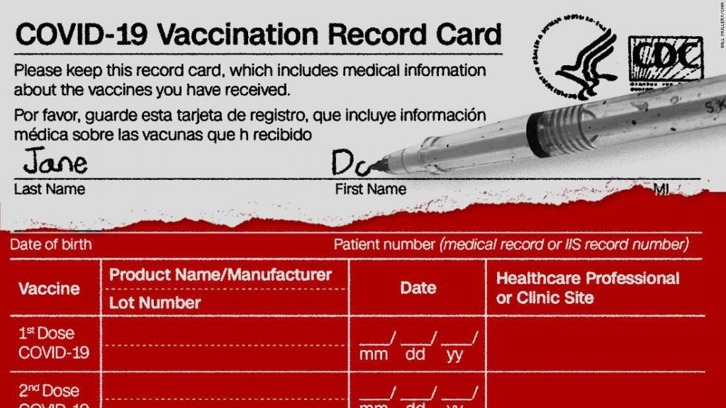 This data contains the CDC . covid vaccination card