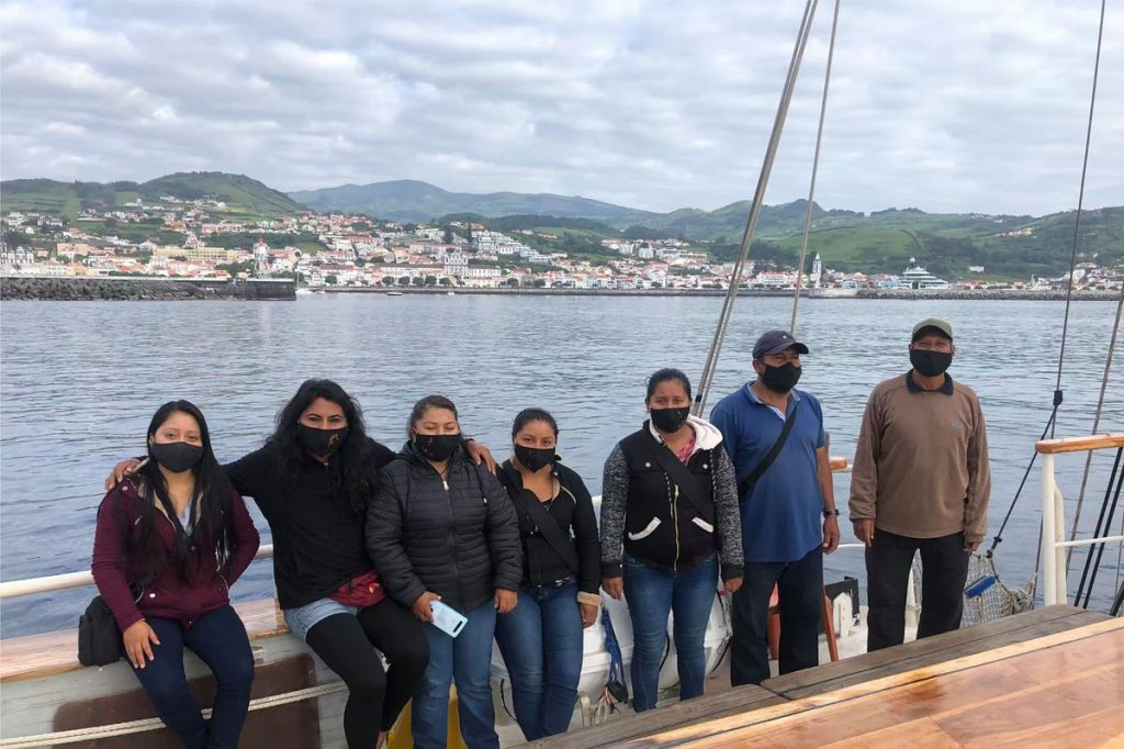 The Zapatistas arrive in Europe by boat 47 days after crossing the Atlantic