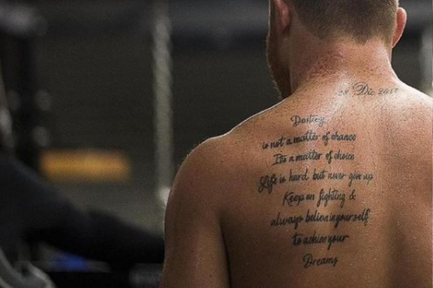 Canelo's back tattoo (Photo: Saúl Álvarez / Instagram)