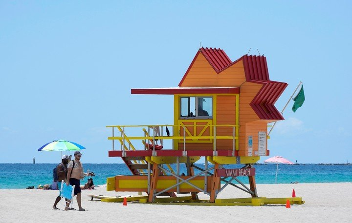 Miami Beach, one of the destinations affected by the new restrictions.  AP Photo/Wilfredo Lee