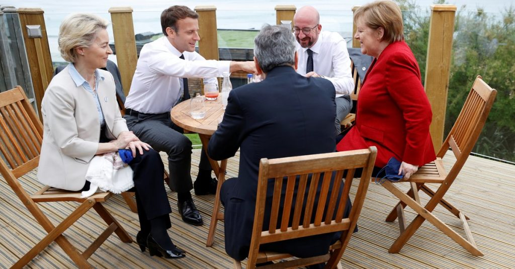 """European Union leaders met before the start of the G7 summit, and they defined China as a """"systemic competition."""""""