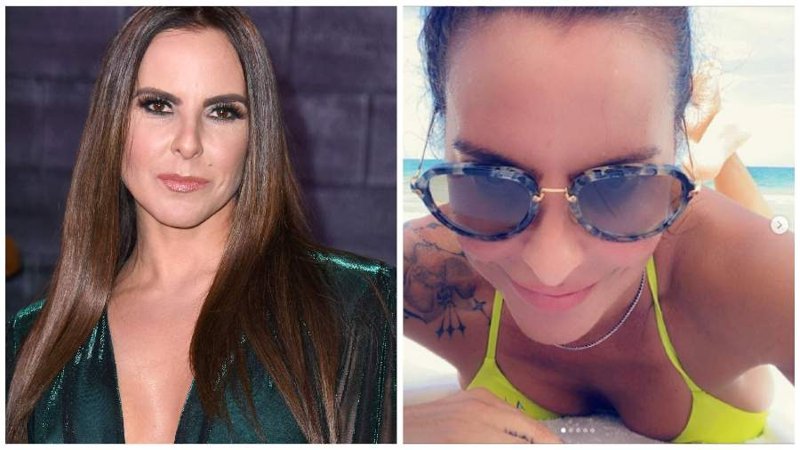 Kate del Castillo reappears in an ultra-thin beach paradise and is compared to Laura Pozo