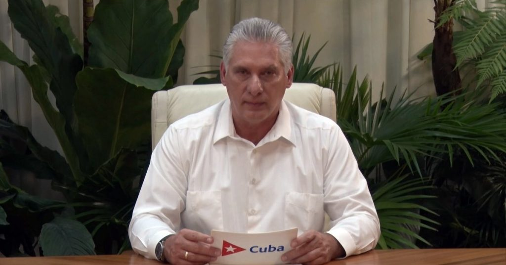 Miguel Diaz-Canel defended censorship and said the revolution justified the lack of freedom of expression in Cuba
