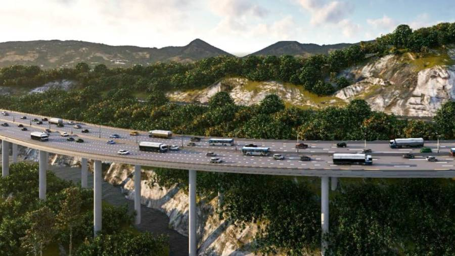 """Video: This is what the """"Viaducto Francisco Morazán"""" route in Los Chorros . will look like"""