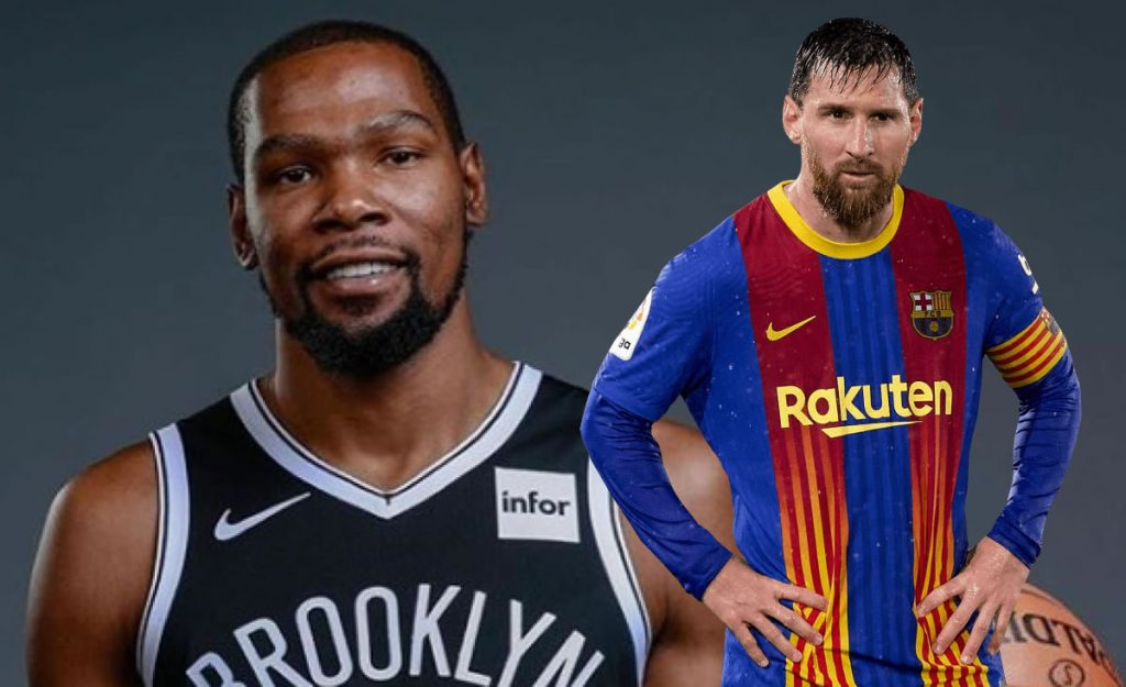 Kevin Durant goes crazy after finding out about Messi's contract at Barcelona