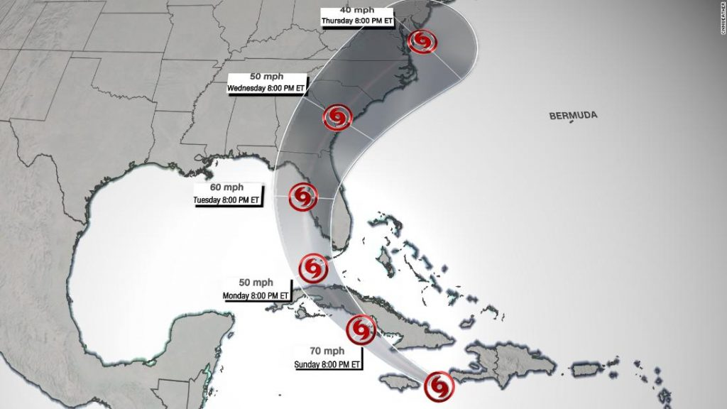 Tropical Storm watch still in effect in South Florida by Elsa