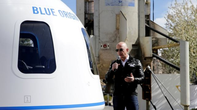 Jeff Bezos plans to travel to space with Blue Origin.