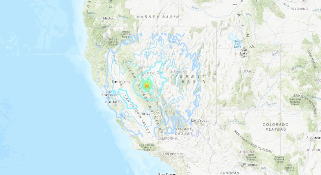 5.9 earthquake shakes California and Nevada