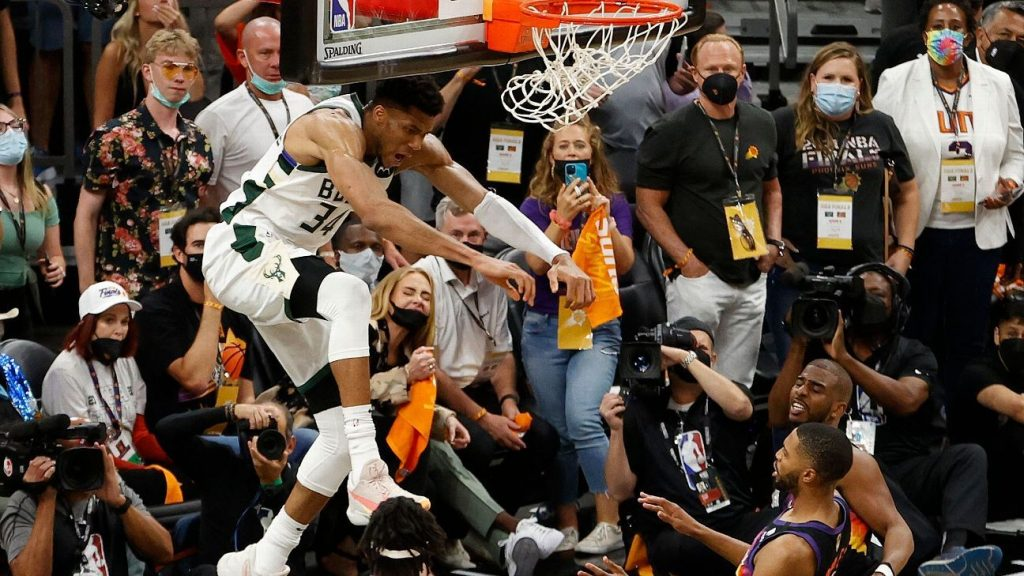 Giannis Antikonmo, monster of the 2021 finals