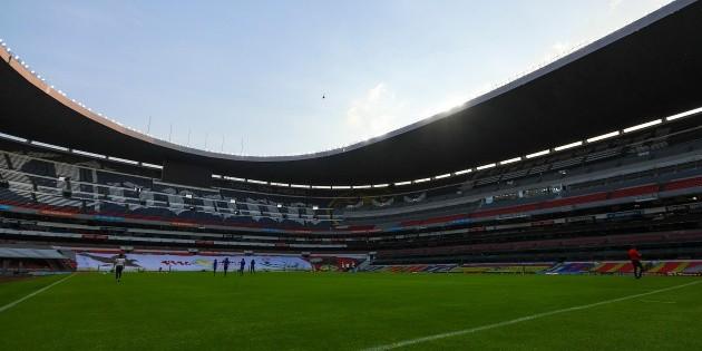 America will play behind closed doors at the Azteca Stadium