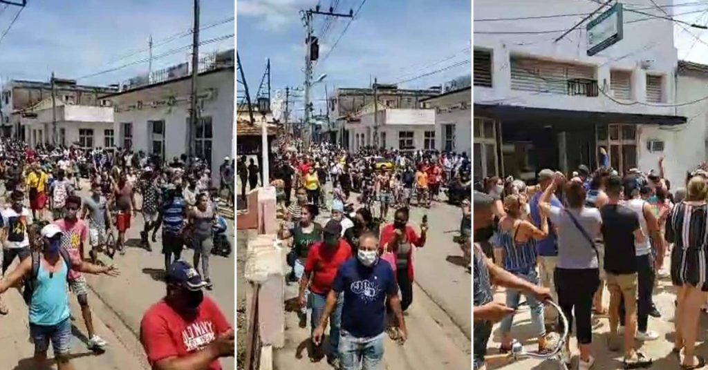 """""""Down with the dictatorship!"""": Thousands of Cubans took to the streets to protest the regime in the midst of the dangerous health situation"""