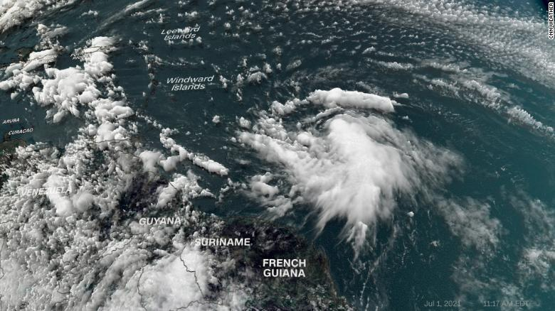 Elsa strengthens to be the first hurricane of the season