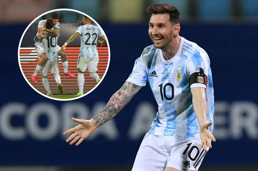 Lionel Messi scored a free kick goal and Argentina will play the Copa America semi-finals!  - ten