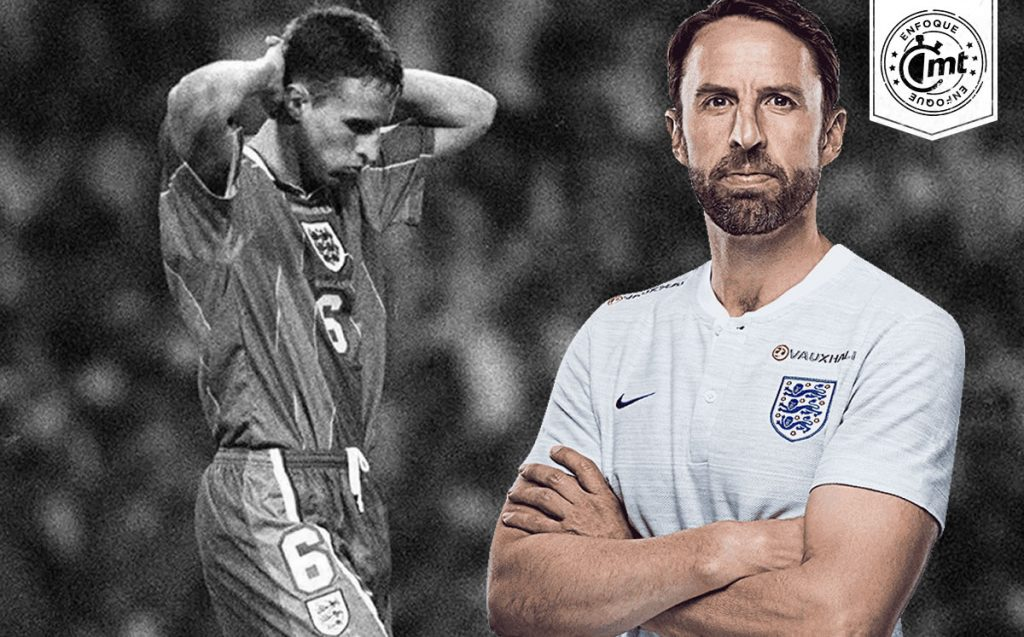 Southgate, the villain at Euro 96 and today is looking for his first final